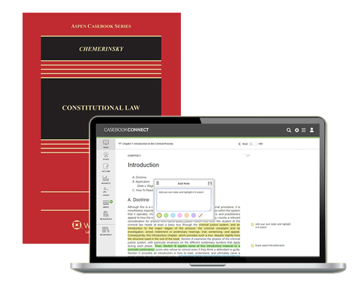 Red casebook with laptop showing CasebookConnect